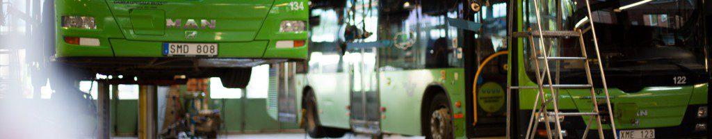 Bussverkstad och servicehall