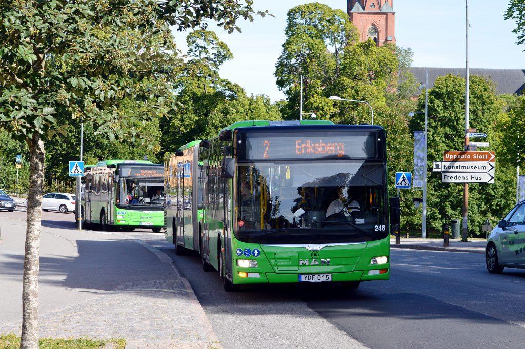 Alla våra dieselbussar drivs med HVO som är PFAD och palmoljefri