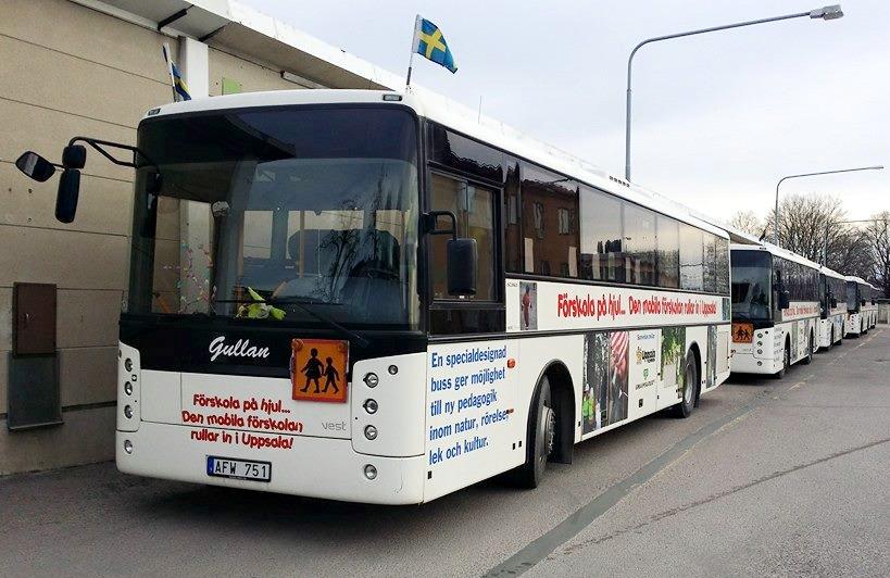 Förskolebussar i Uppsala