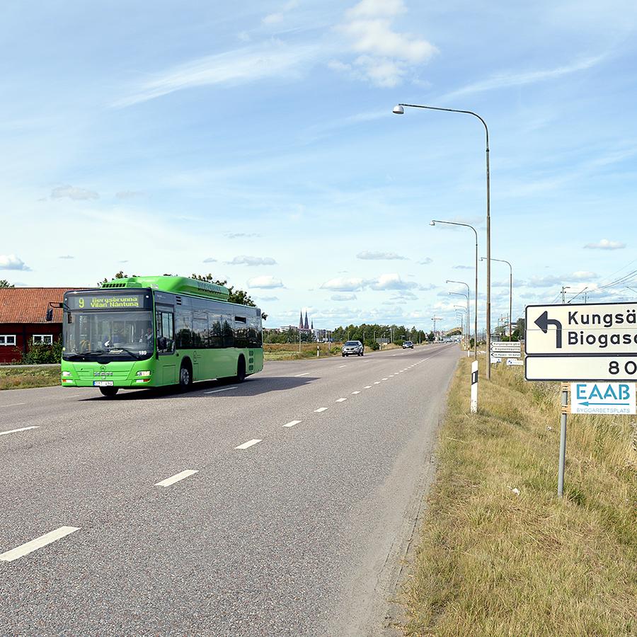 GUB är miljövänligt och kör med biogas- och elhybridbussar