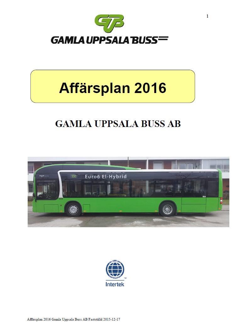 Affärsplan 2016